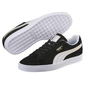 Puma Suede Varsity Sneakers Gold Trim